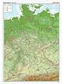 3075020087 - Posterkarten Geographie: Riesenposter Deutschland, physisch. 1 : 750.000