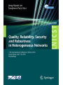 9783319607177 - Jong-Hyouk Lee; Sangheon Pack: Quality, Reliability, Security and Robustness in Heterogeneous Networks