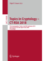 9783319769530 - Nigel P. Smart: Topics in Cryptology – CT-RSA 2018