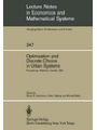 Optimization and Discrete Choice in Urban Systems: Proceedings of the International Symposium on New Directions in Urban Systems Modelling Held at the . Notes in Economics and Mathematical Systems)
