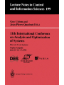 11th International Conference on Analysis and Optimization of Systems: Discrete Event Systems