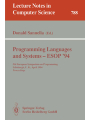 Programming Languages and Systems - ESOP '94