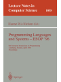 Programming Languages and Systems - ESOP '96