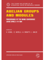 Abelian Groups and Modules : Proceedings of the Udine Conference, Udine, April 9-14, 1984. Dedicated to Laszlo Fuchs on his 60th Birthday